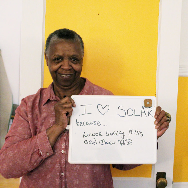 "Dorchester, MA   ""I decided to go solar because I am bogged down with expensive electric bills. I tried to go solar before, but I didn't trust the people that were trying to sell me solar. It was also way too expensive. I am excited about 'Codman Square Goes Solar' because it's about neighbors helping neighbors. We are helping each other to save money and the environment. The more panels up on houses, the healthier our community [is]."""
