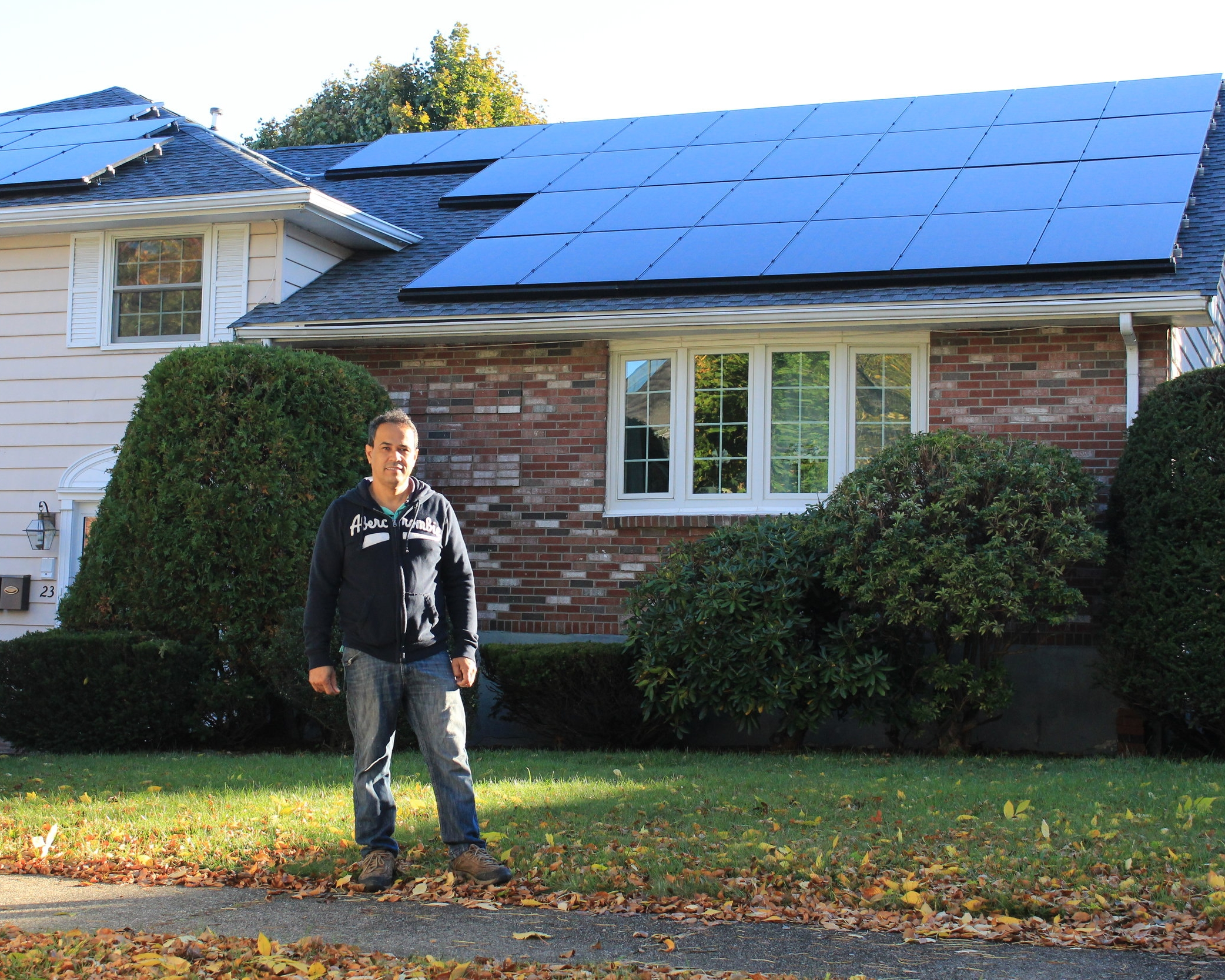 "Stoneham, MA   ""When I bought this house, everything was electric. After the first winter here, I looked at my electricity bill and said, 'wow no way! I need to get solar! If I was going to go Solar, I wanted to own the system.' Resonant helped connect me with the MassCEC Solar Loan Program that allowed me own the whole array. Resonant did everything for me and made the process very easy. I love solar because it's clean energy and it saves me money."""