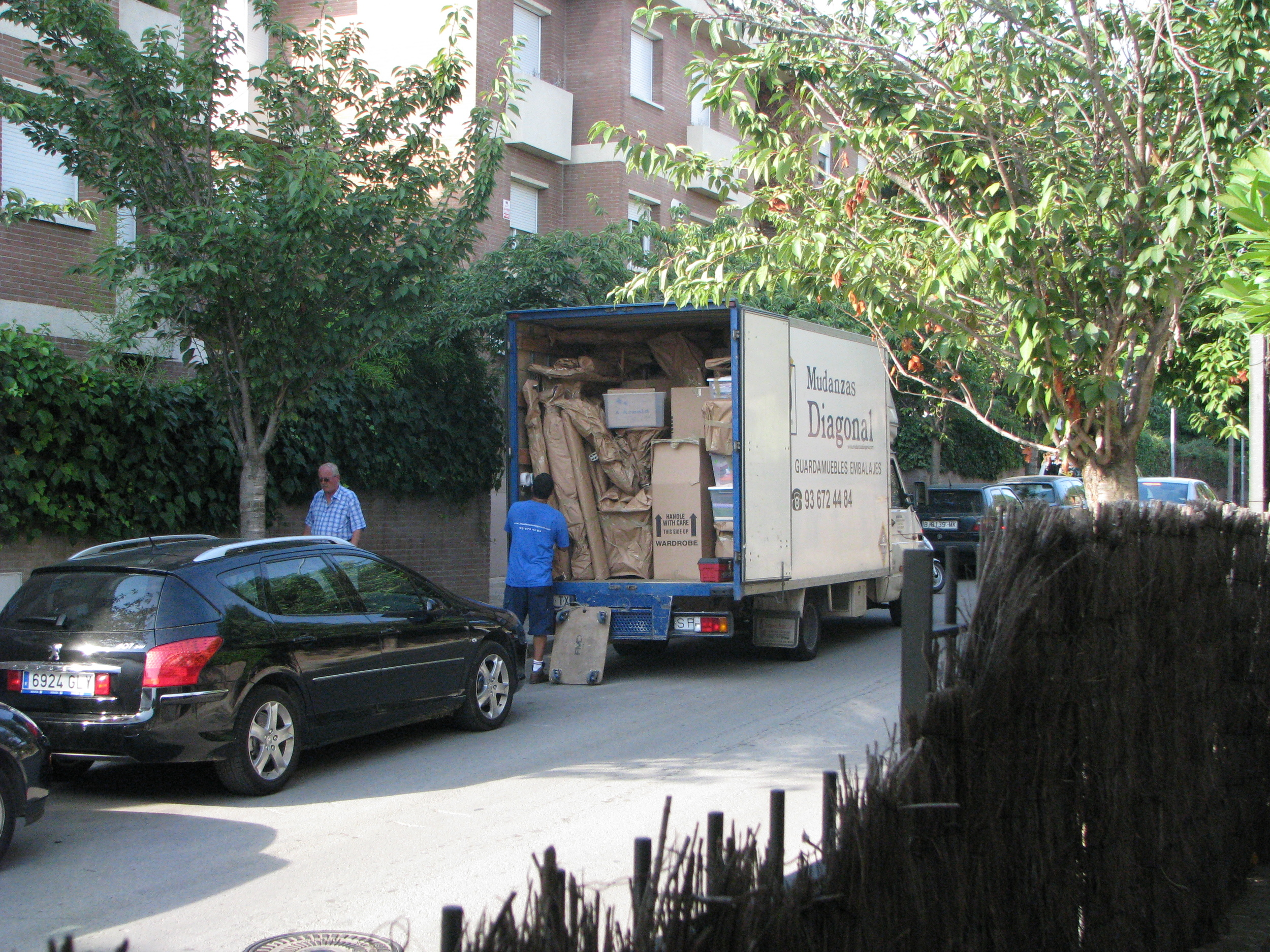 Moving truck in Barcelona, Spain 2009