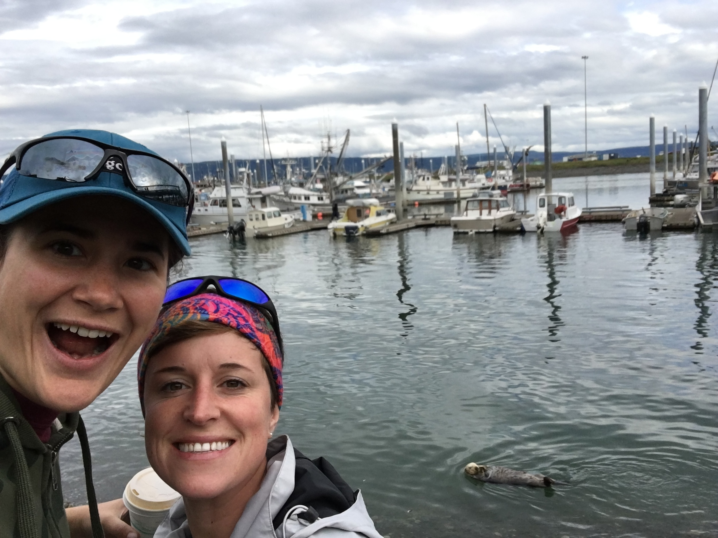 Stoked for sea otters selfie! Haha...