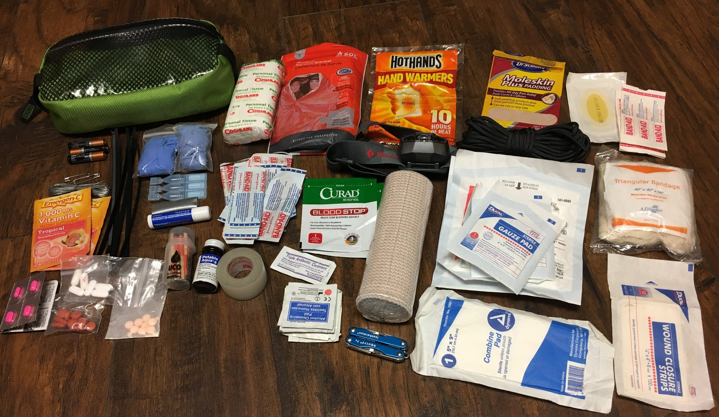 The contents of my personal kit