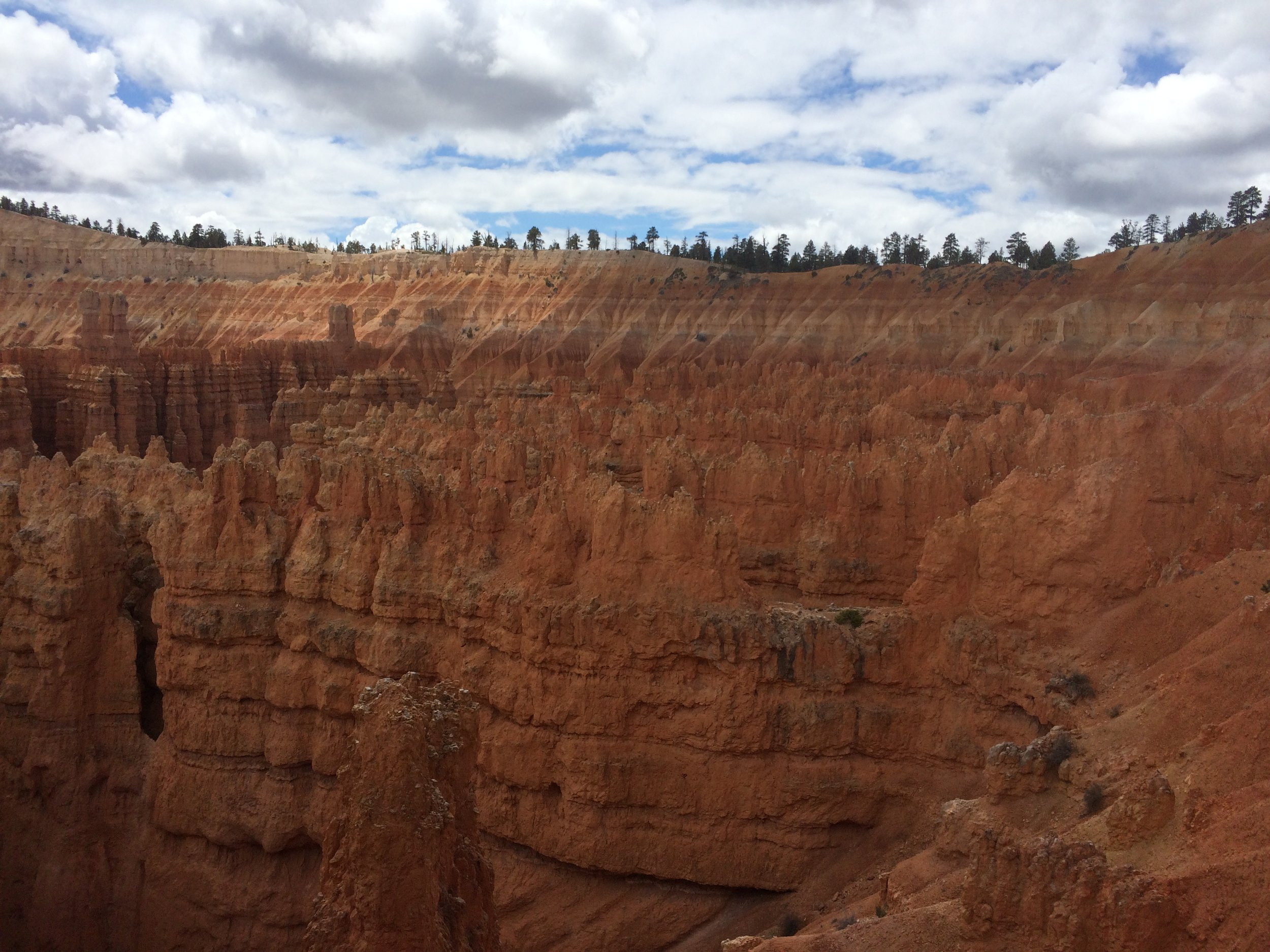 First sight of hoodoos!