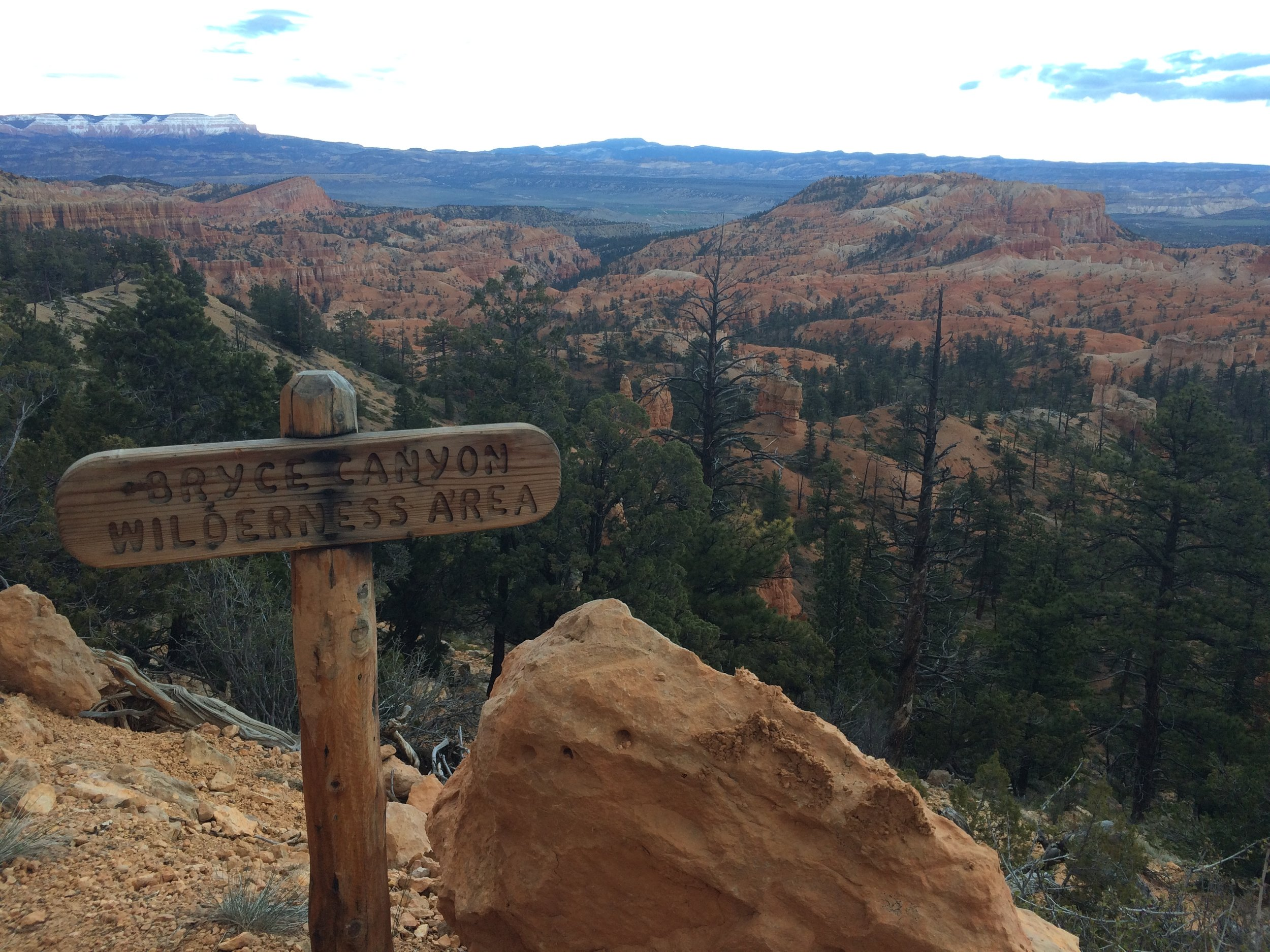 Leaving the wilderness for the final trek along the Rim Trail