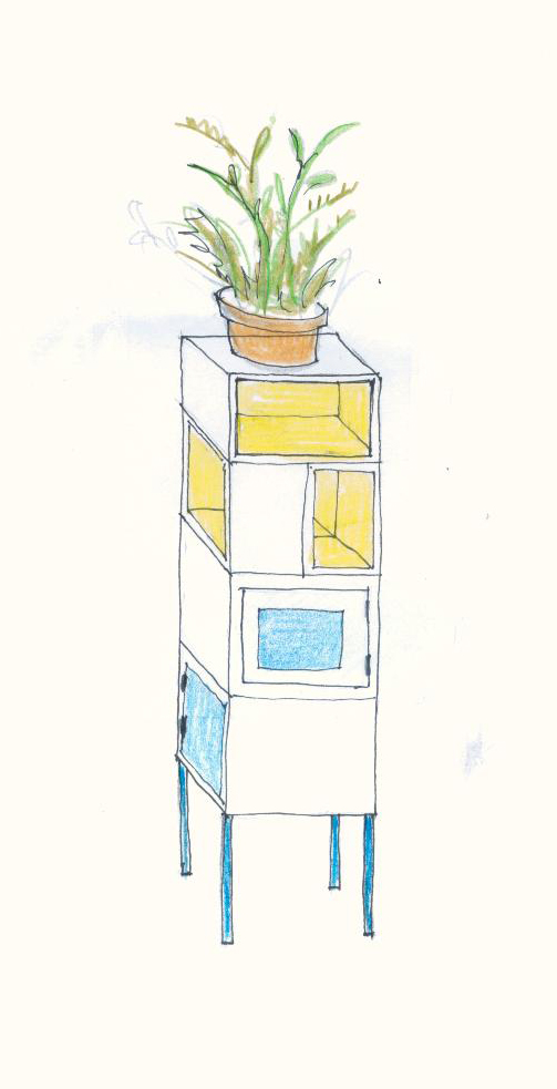 Cheerful Corner Cabinet