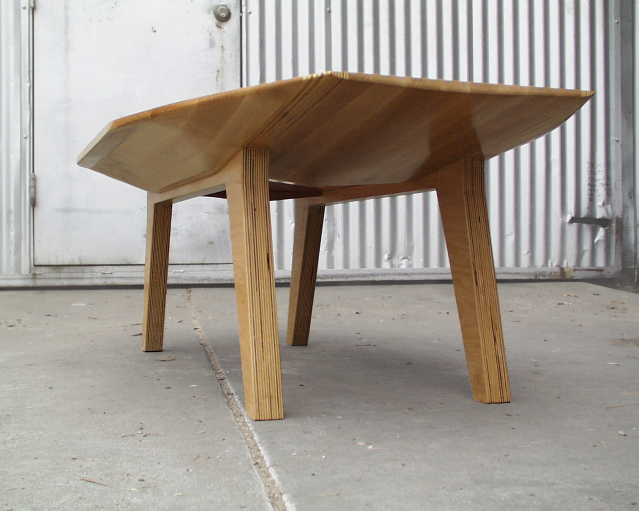 Bottom of Maple Table