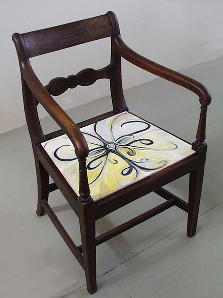 Hand-painted Seat