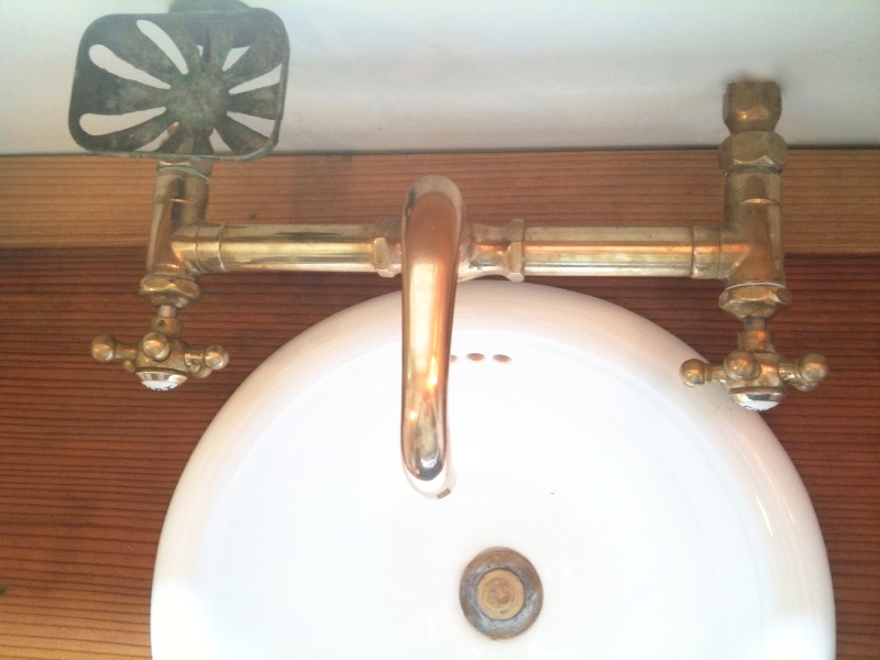 unprotected brass chicago faucet  and redwood.jpg