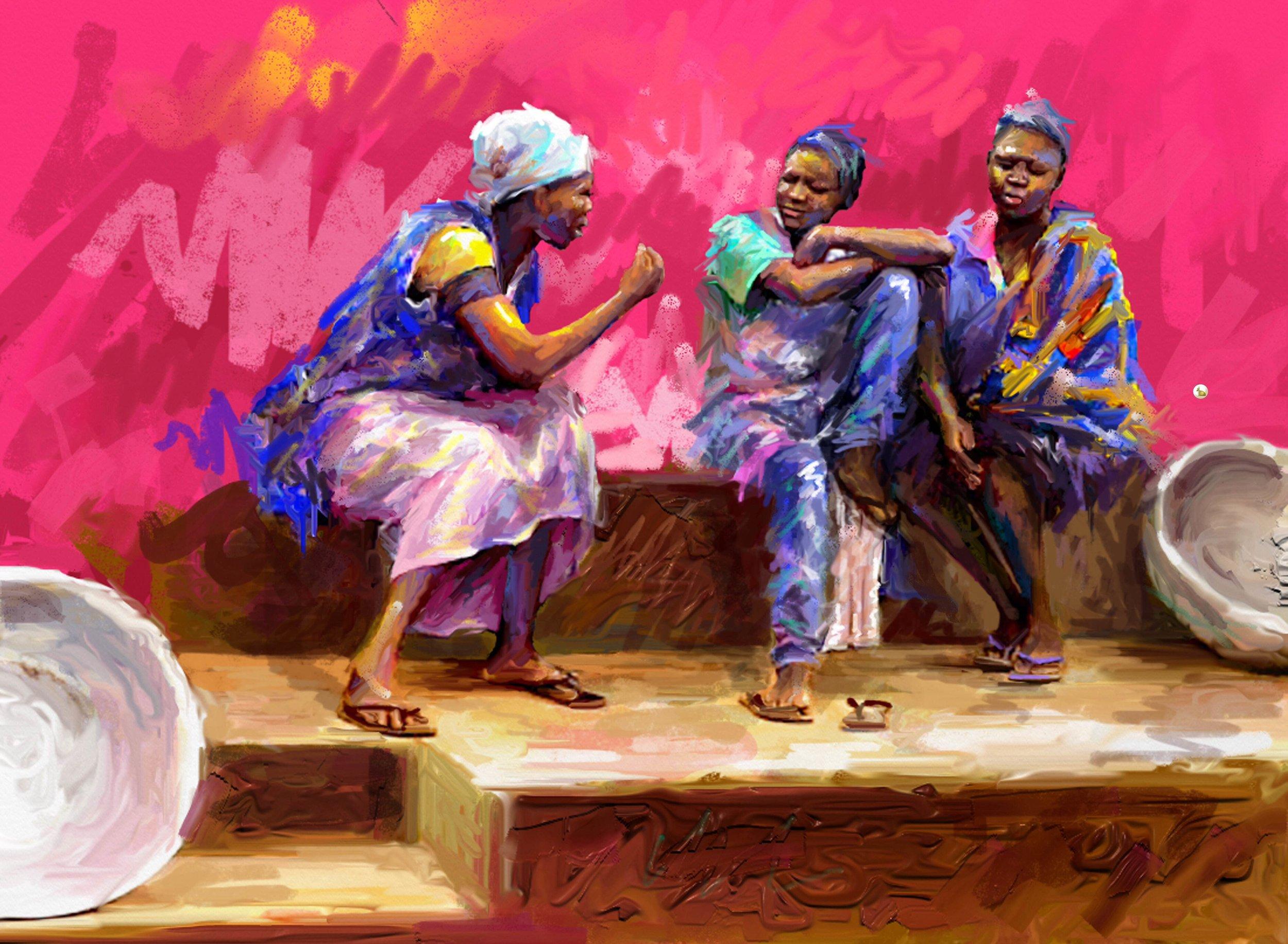 Painting by Gorden Keyga