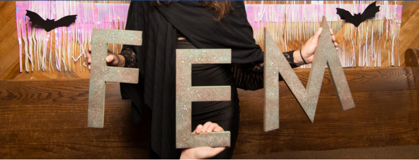 FemFest organizers held a Halloween fundraiser in 2016. Image from www.jpaetzphotography.com.