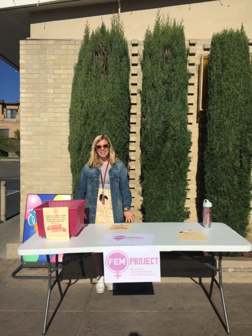 Grace at the menstrual supply drive