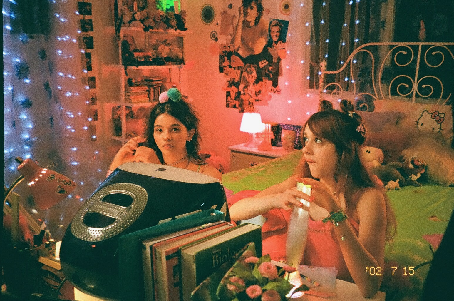 Behind the scenes while filming Pinky Pinky's music video