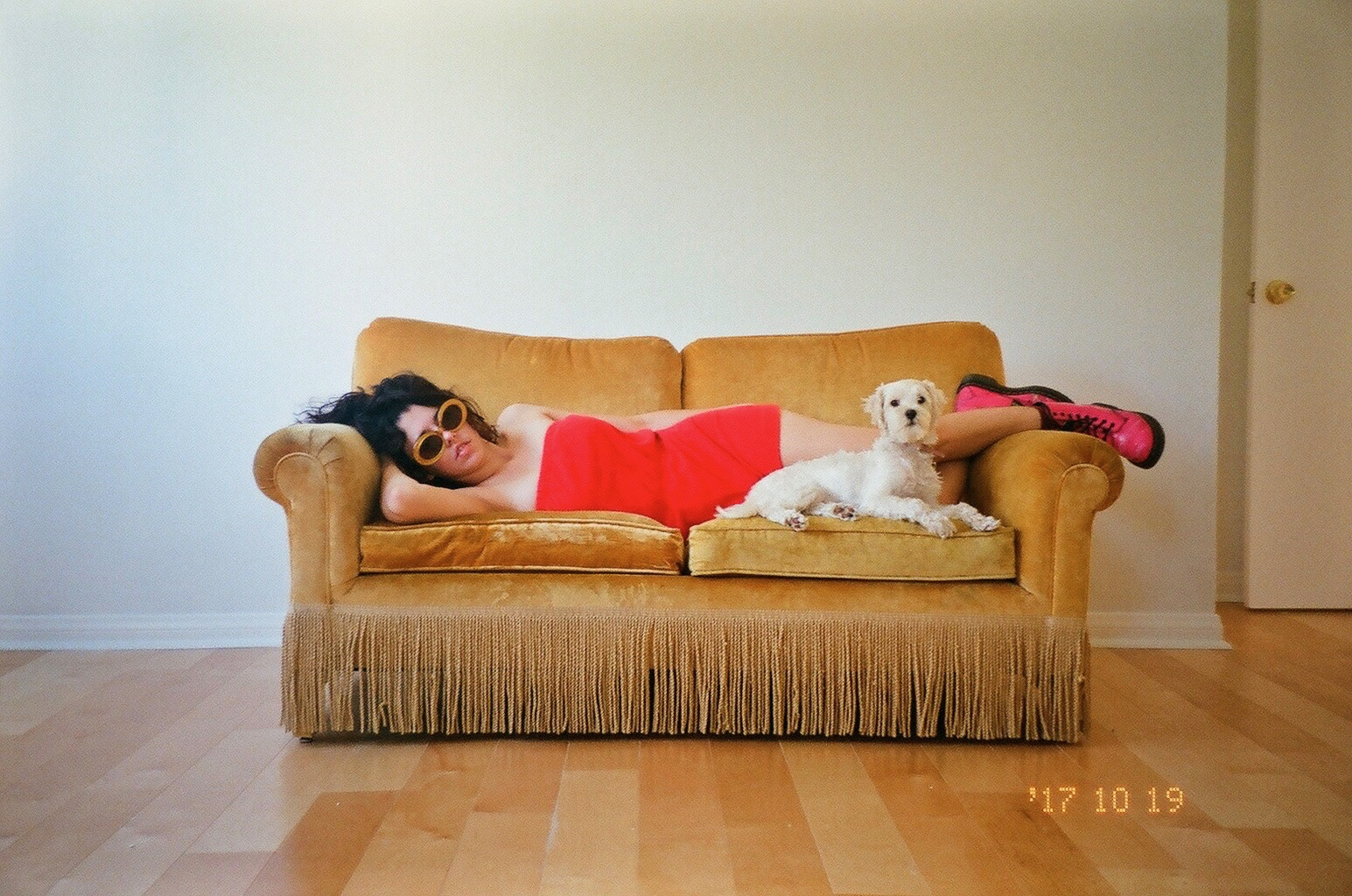 Mary Neely and dog