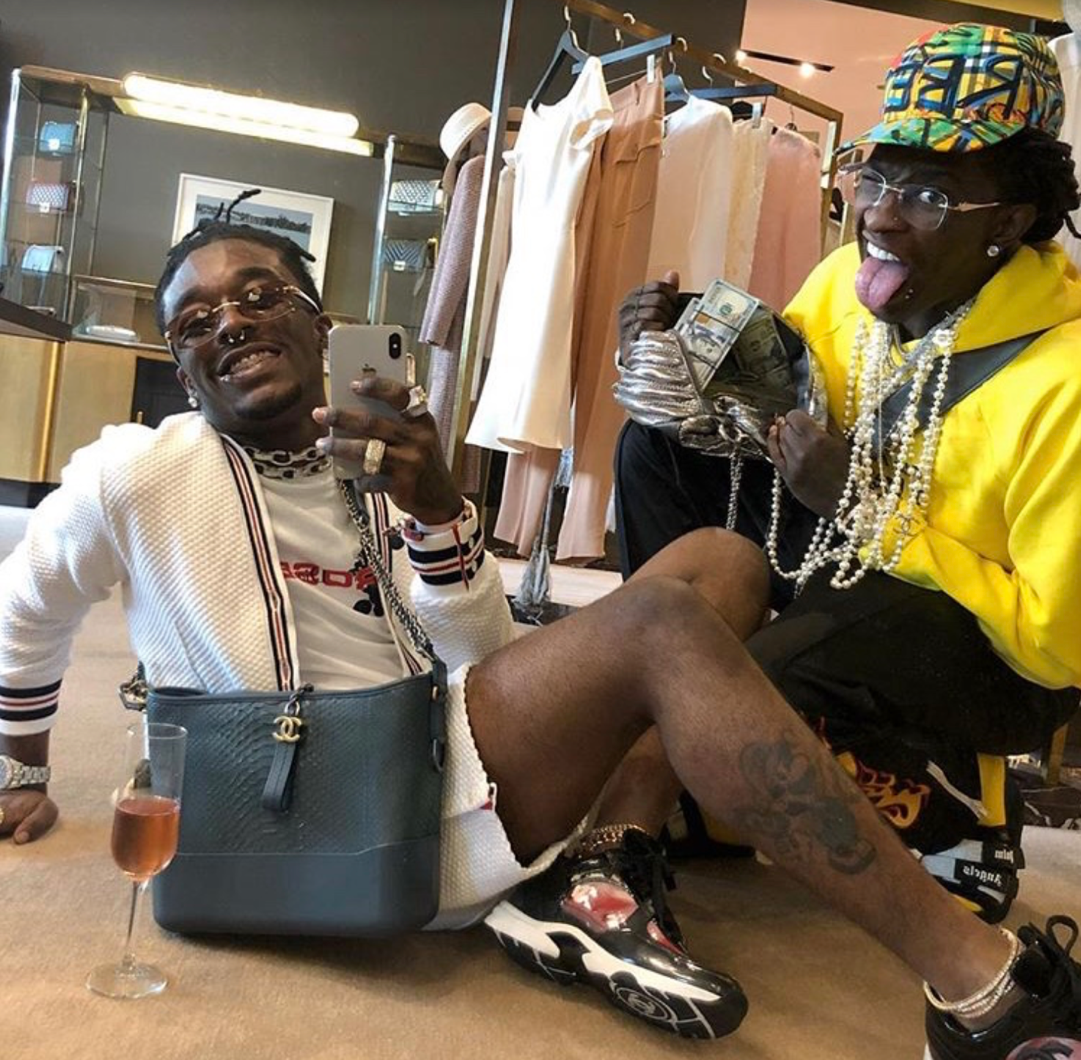 Artist @liluzivert on Instagram (left) with Young Thug (right)