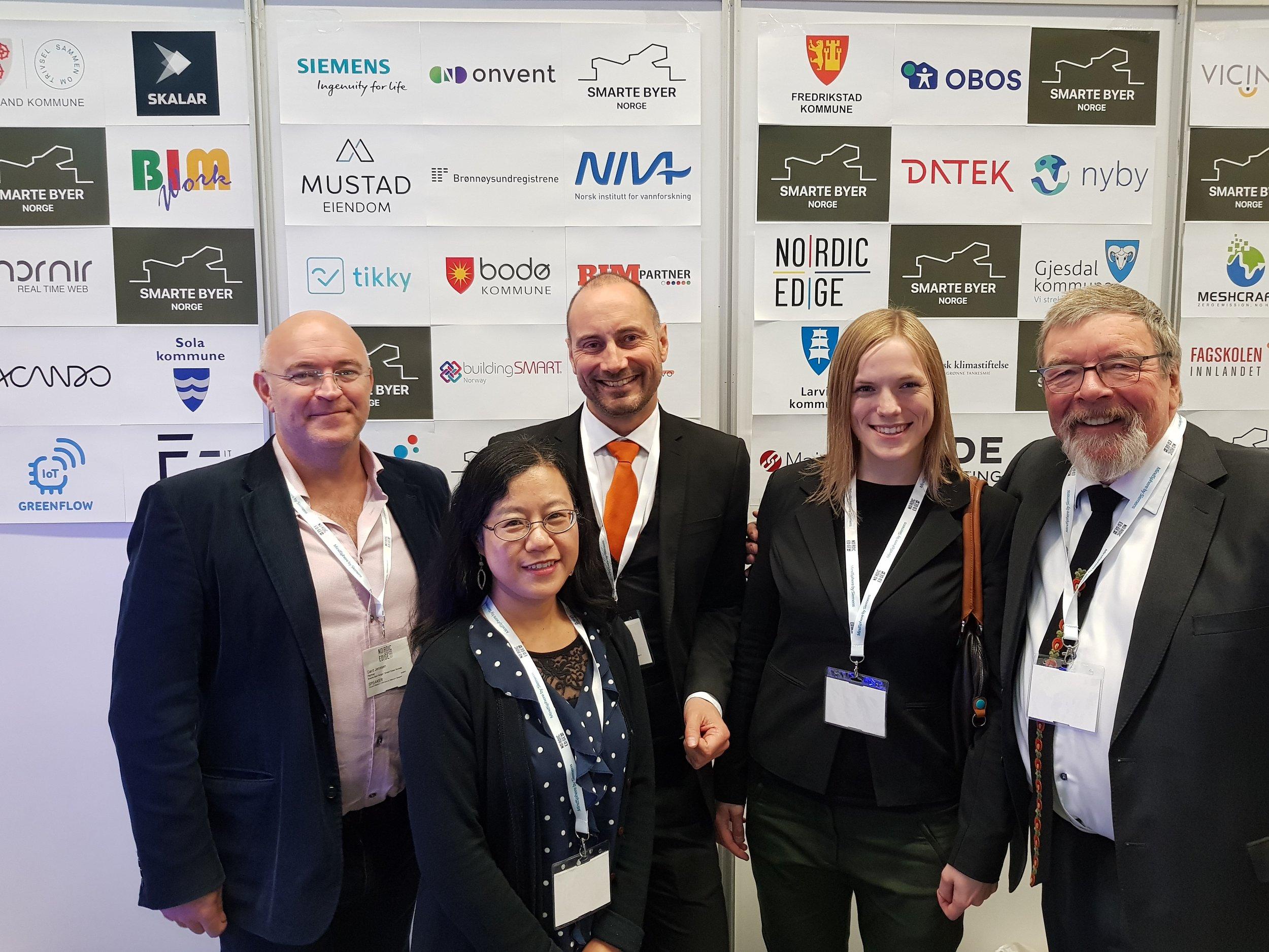 Fra Nordic Edge Expo i Stavanger i september 2017. Smarte Byer Norge hadde stand og inviterte to av medlemmene i nettverket til å dele standen.