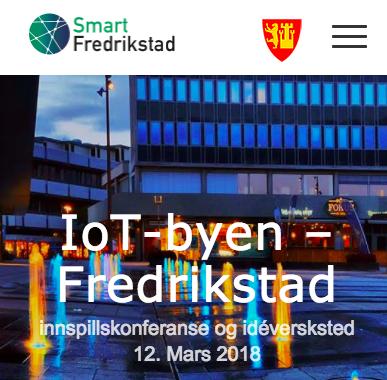 Fredrikstad sin side for IoT innspillskonferansen.