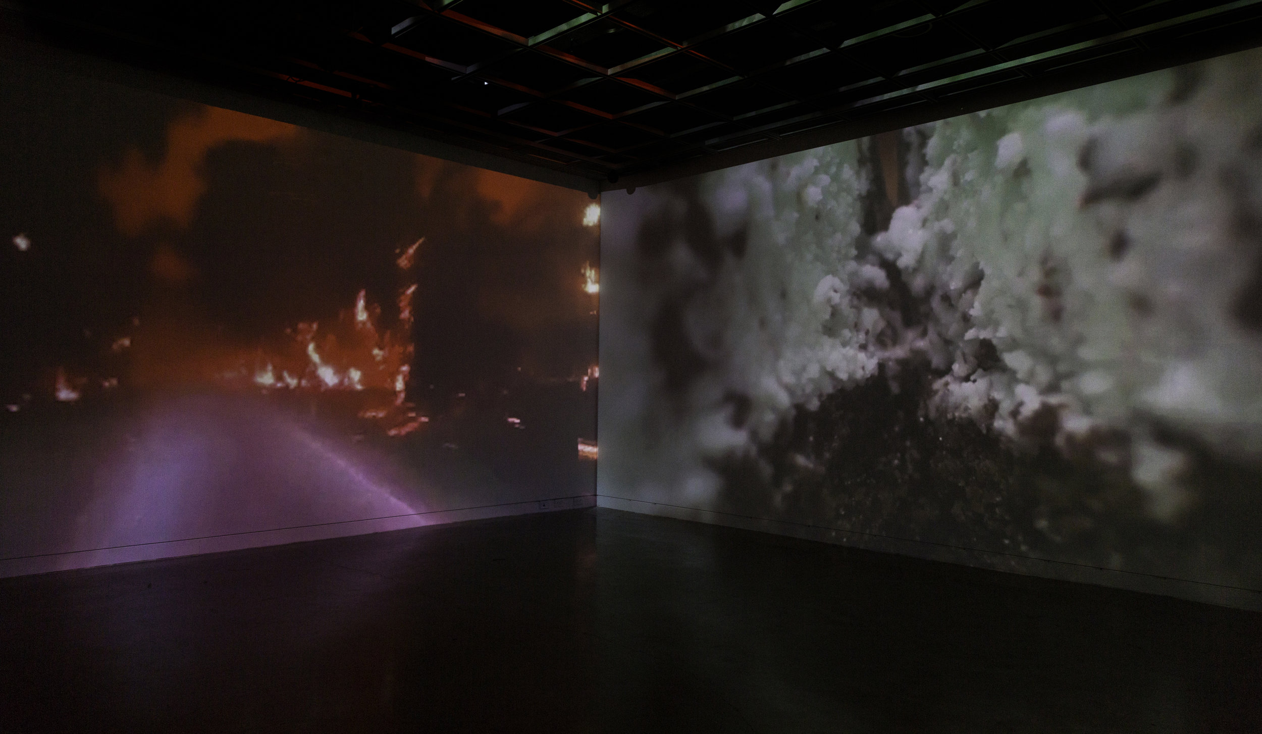 """Dessert-Disaster"" (2017-2018) in the Institute of Electronic Arts' Immersive Gallery"