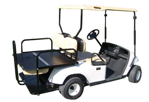 electric golf cart with folding seat