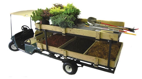 landscaping truck with bed