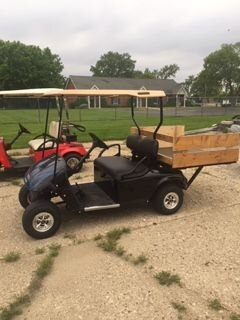 2008 EZGO txt Gas, with a 4 foot extension, move the cooler and chairs, with the kids down to the beach  $4750.00