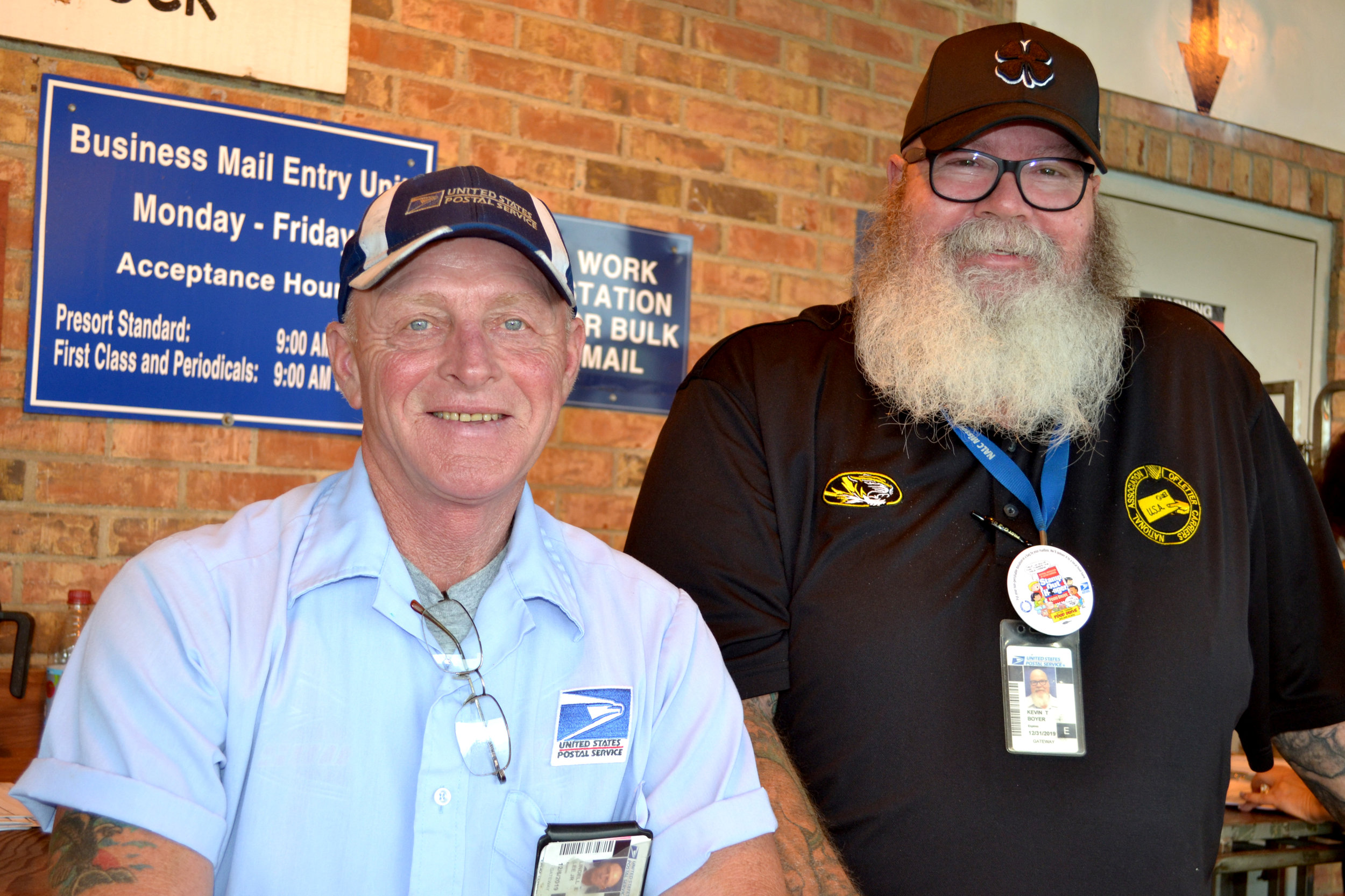 Lindell Lee and Kevin Boyer are longtime Postal Workers who have been stamping out hunger for 26 years.