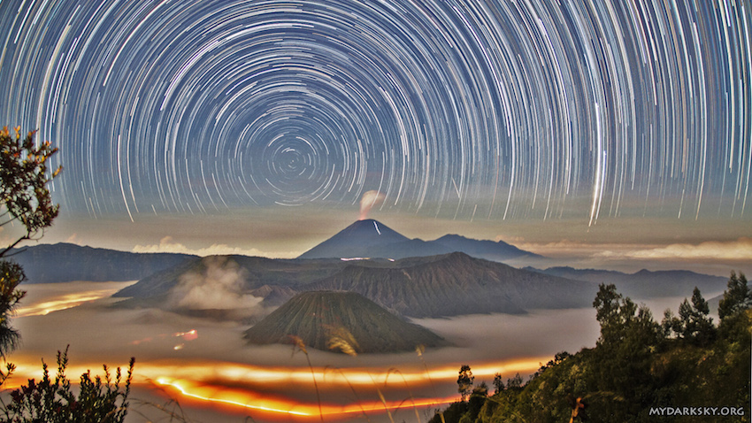 Star Trails Over Indonesia © 2015 Hui Chieh
