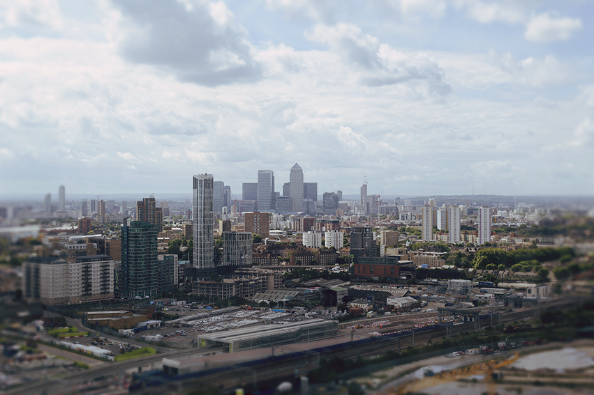 View of the Canary Wharf from the ArcelorMittal Orbit © 2017 Ekaterina Selezneva
