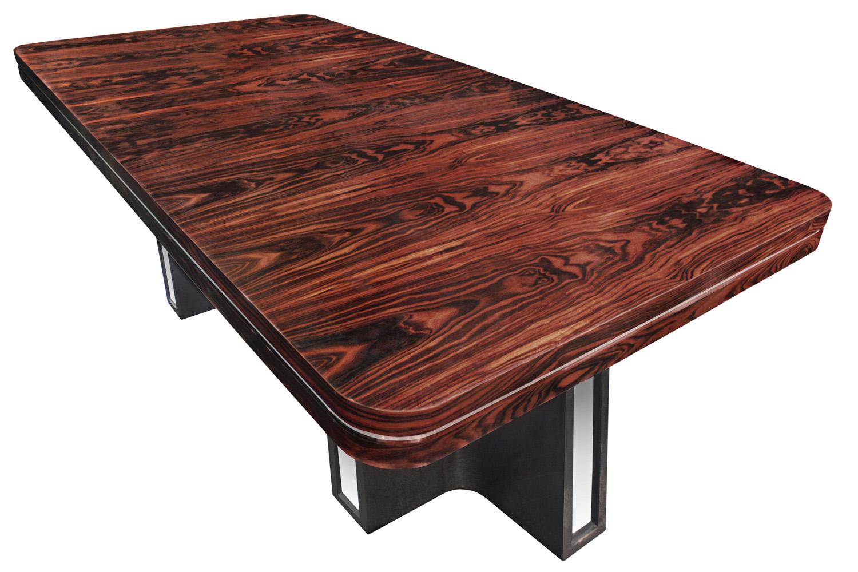 Parzinger 350 Macassr+chrome diningtable148 detail1 hires.jpg