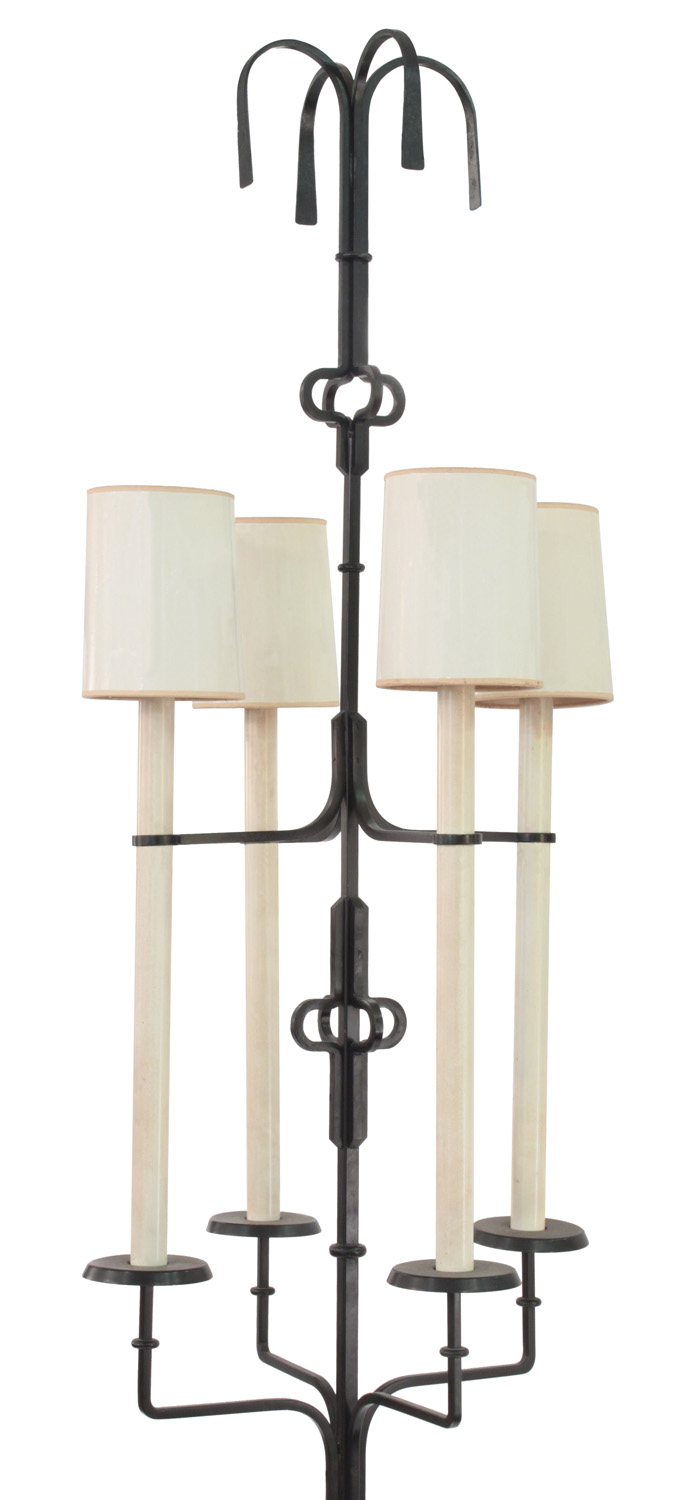 Parzinger 12 huge wrt iron 4 lite floorlamp157 detail1 hires.jpg
