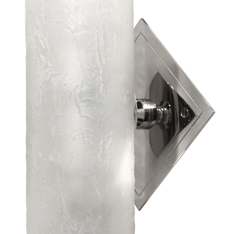 Springer 55 glass sand blasted scroll+chrome dimond mnt plate 2xsconce21 mount detail hires.jpg