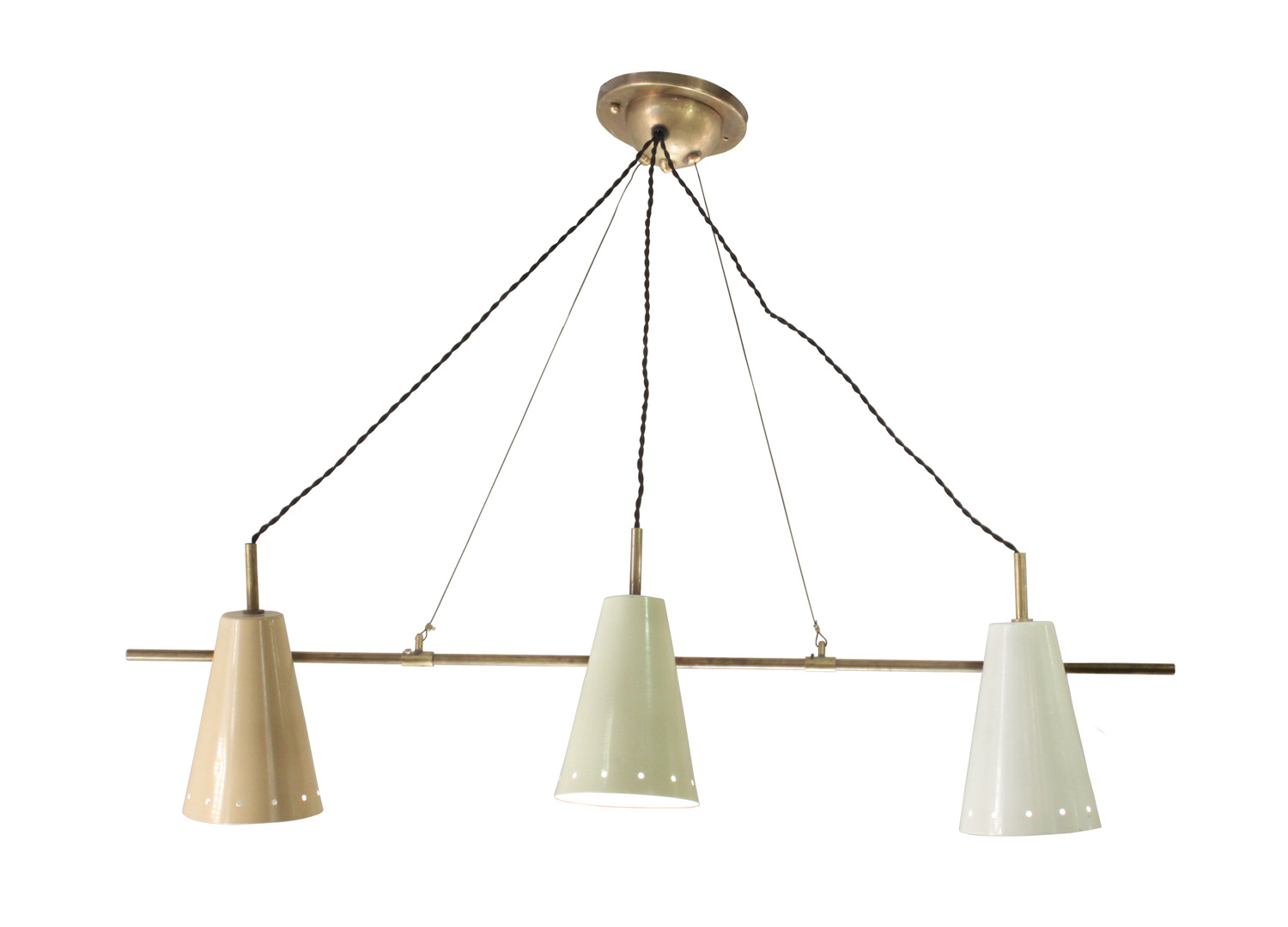 Arredoluce 55 cone shades on rod chandelier208 hires.jpg
