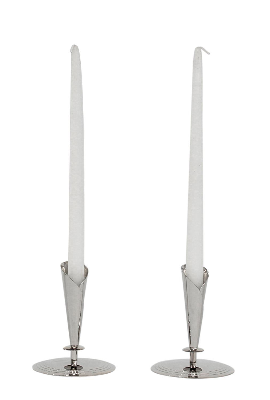 Parzinger 15 nickel candle holders circles parzinger46 hires.jpg