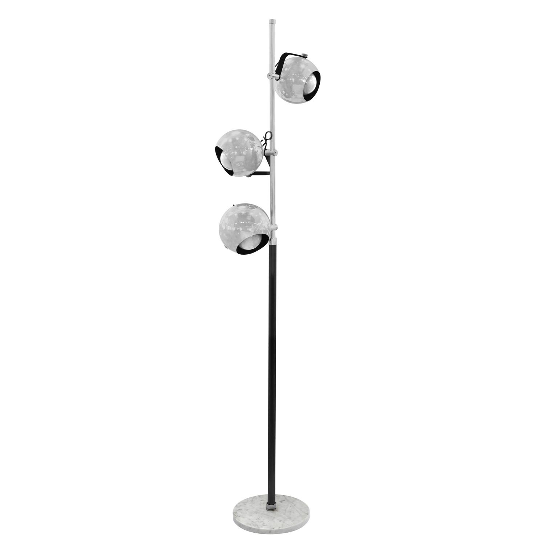 Arredoluce Floor Lamp With 3 Adjustable Chrome Spheres 1960s