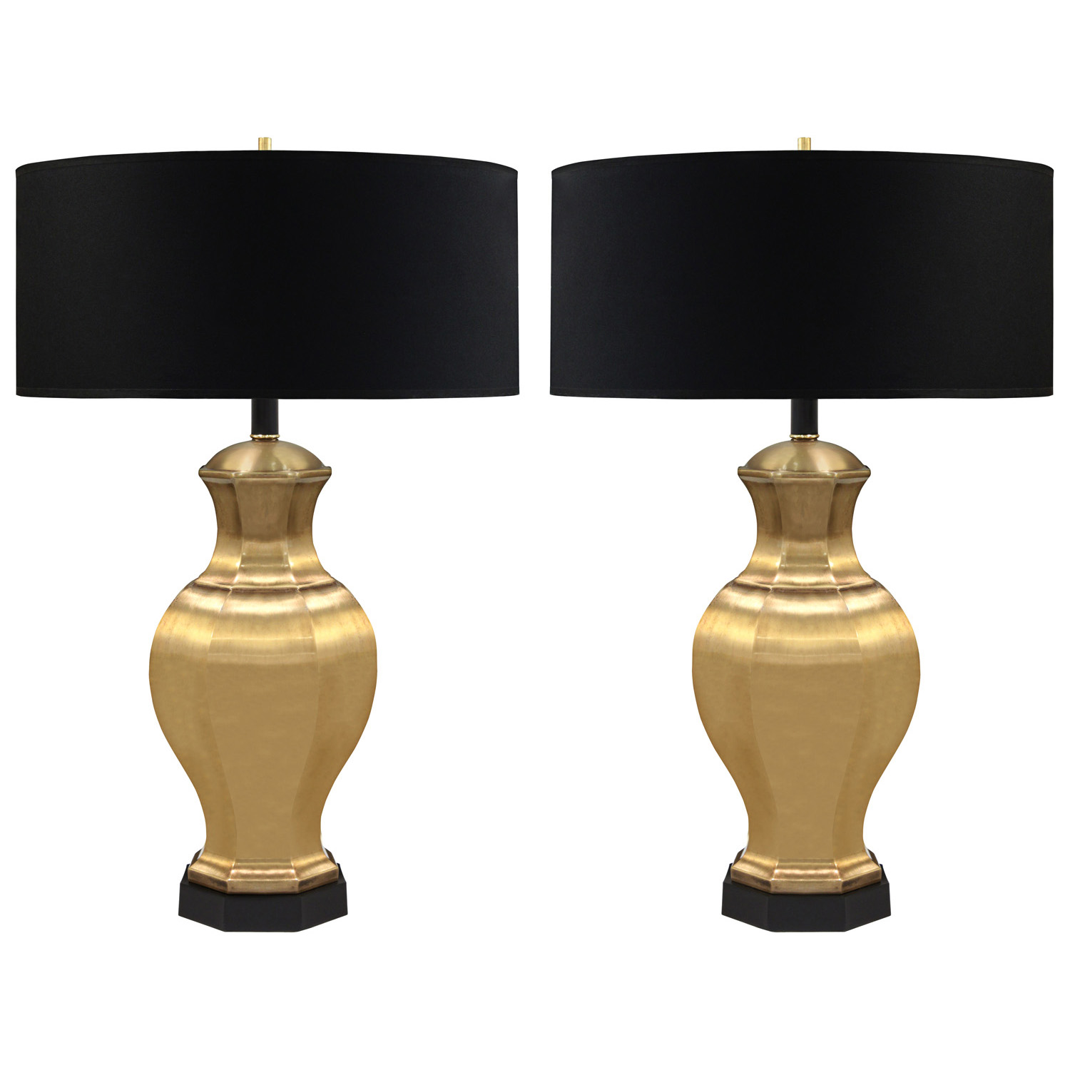 Table Lamps In Satin Br By Chapman