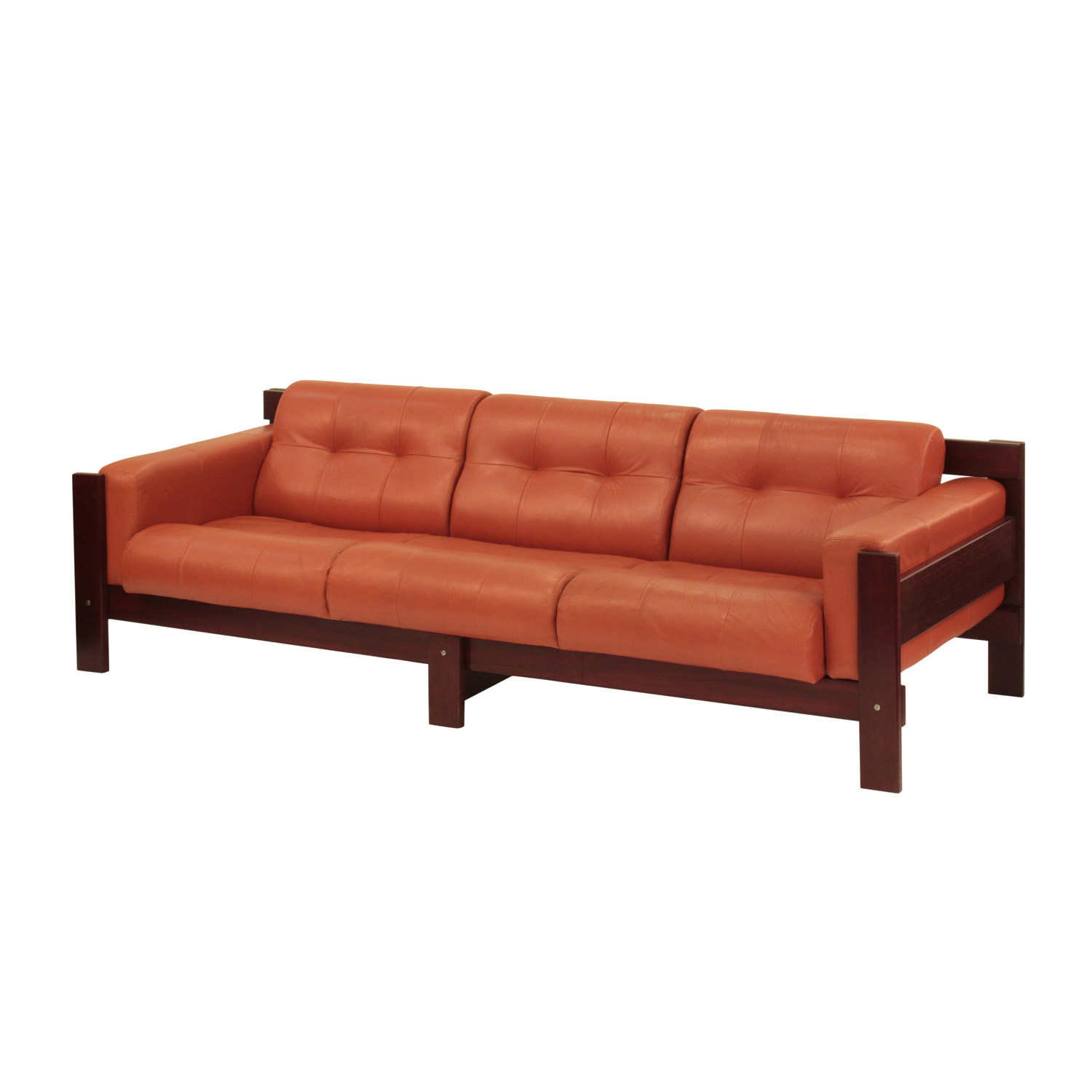 Percival Lafer Sofa In Rosewood With