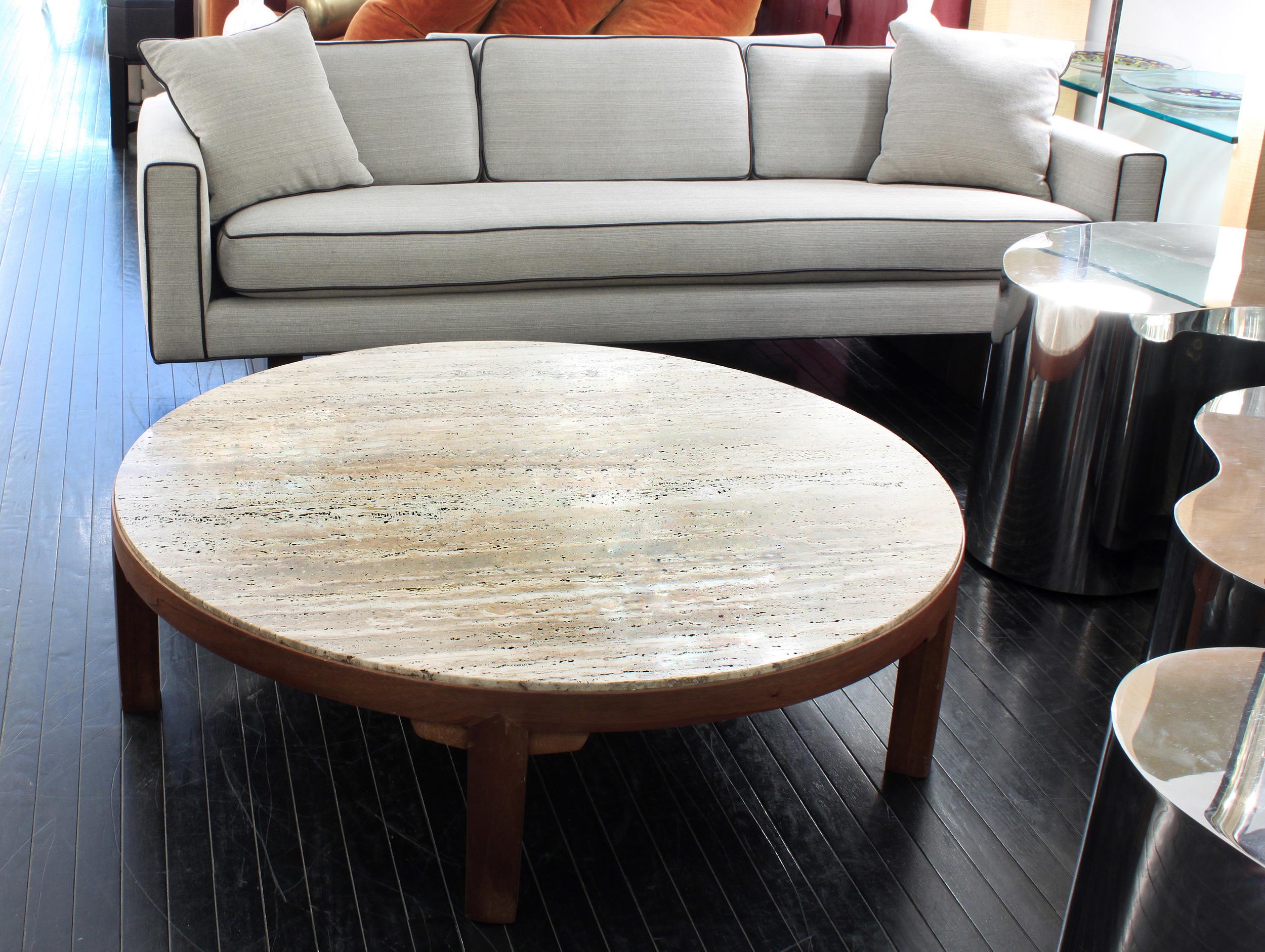Dunbar 120 round travertine+mahg coffeetable 26 - 2.jpg