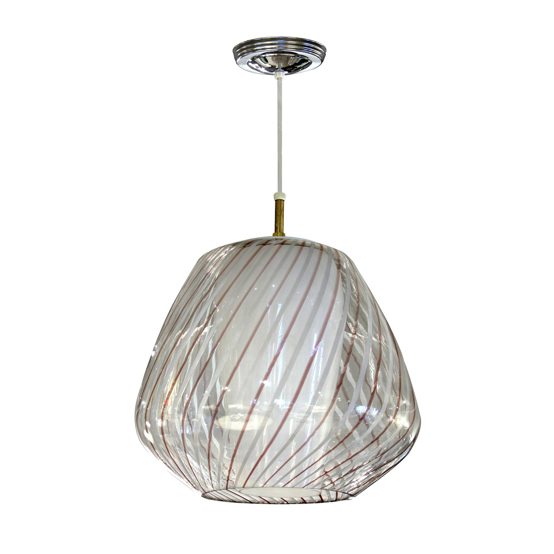 Murano 35 glass shade over cone chandelier223 main.jpg