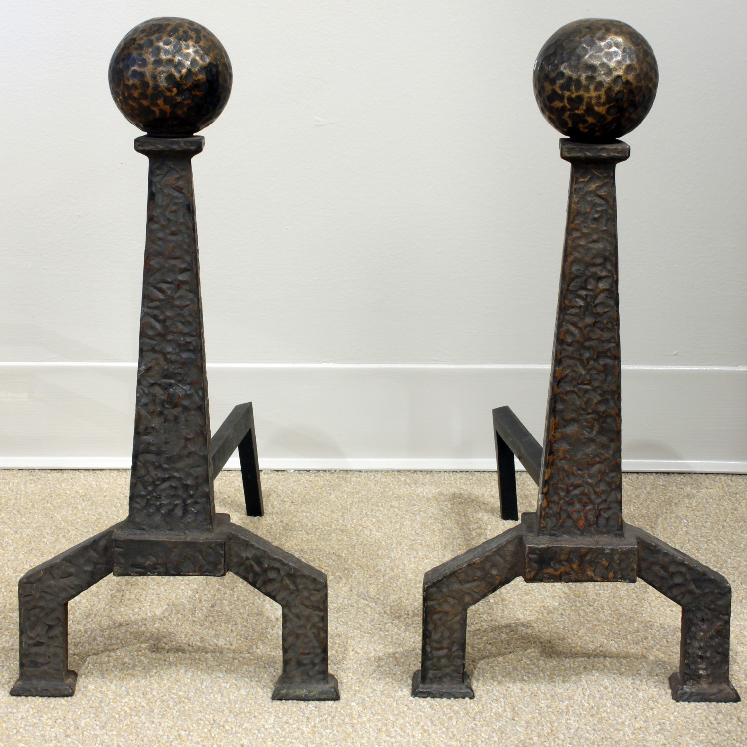 50's 35 hammered copper balls fireplace 65 hires main.jpg