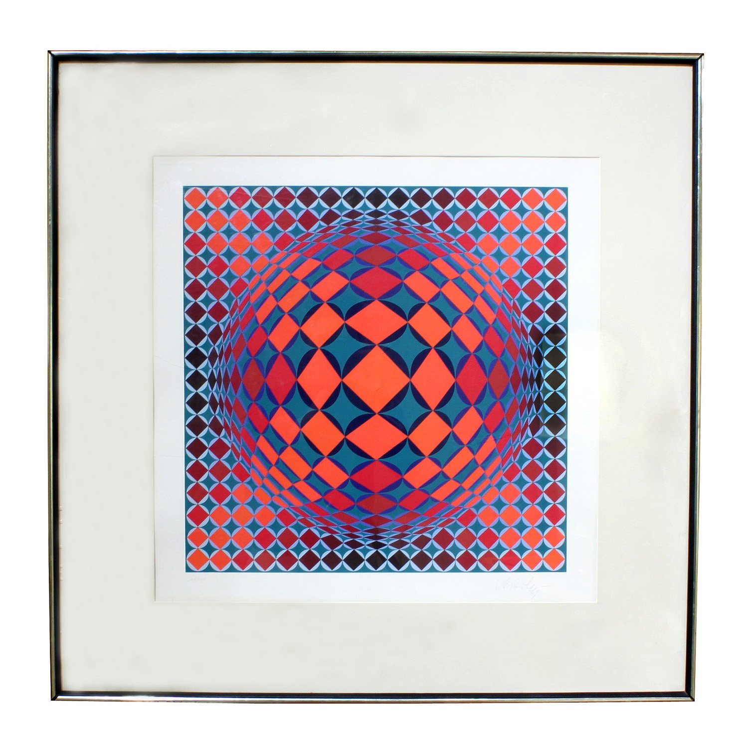 Vasarely 25 litho colorful geom painting59 hires main.jpg