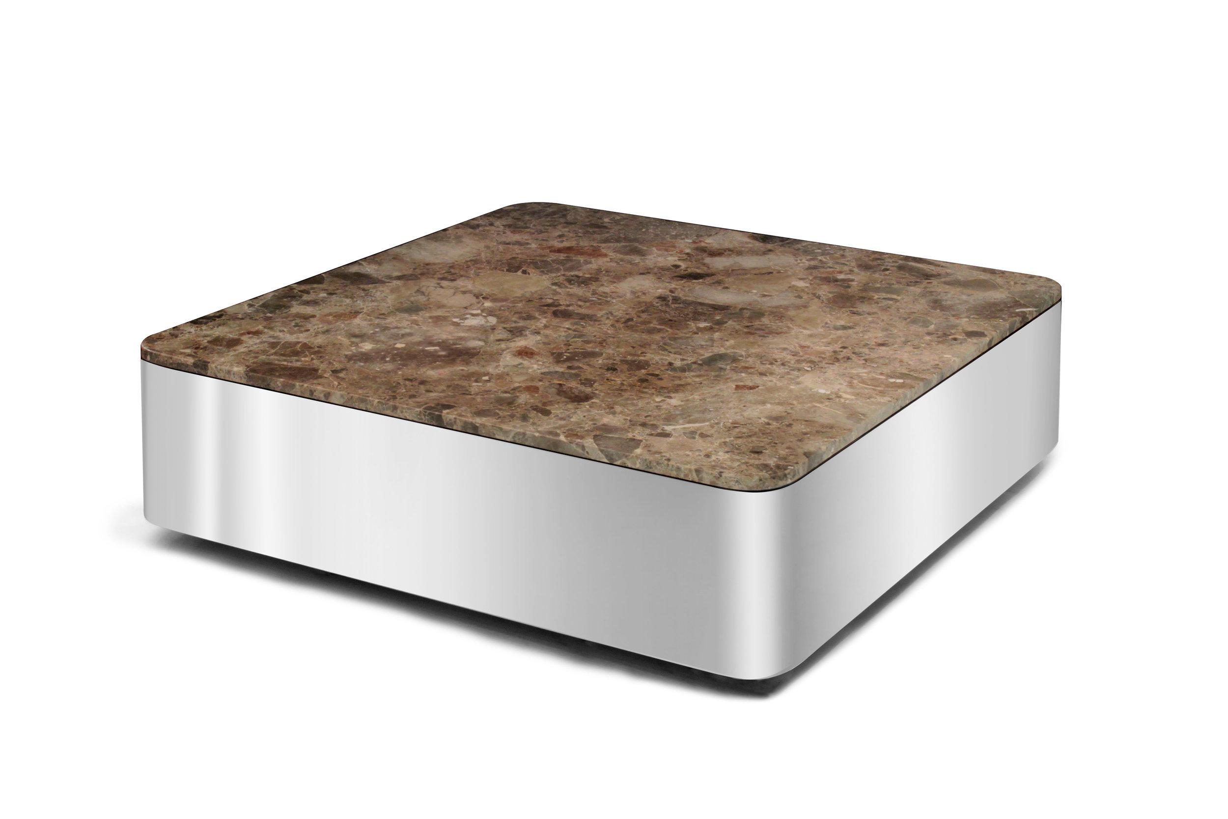 Brueton 85 polished steel+marble coffeetable75 hires.JPG