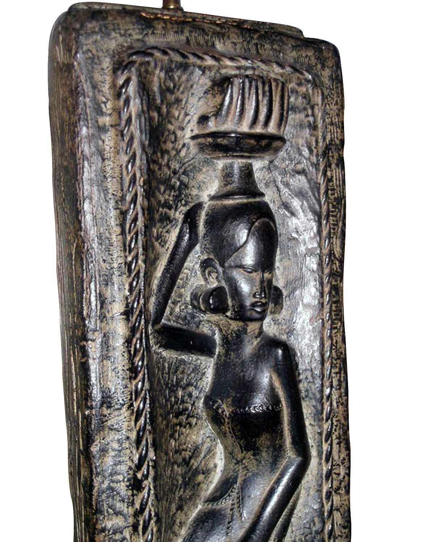 American 50 figural African plaster tablelamps48 hires detail2.jpg