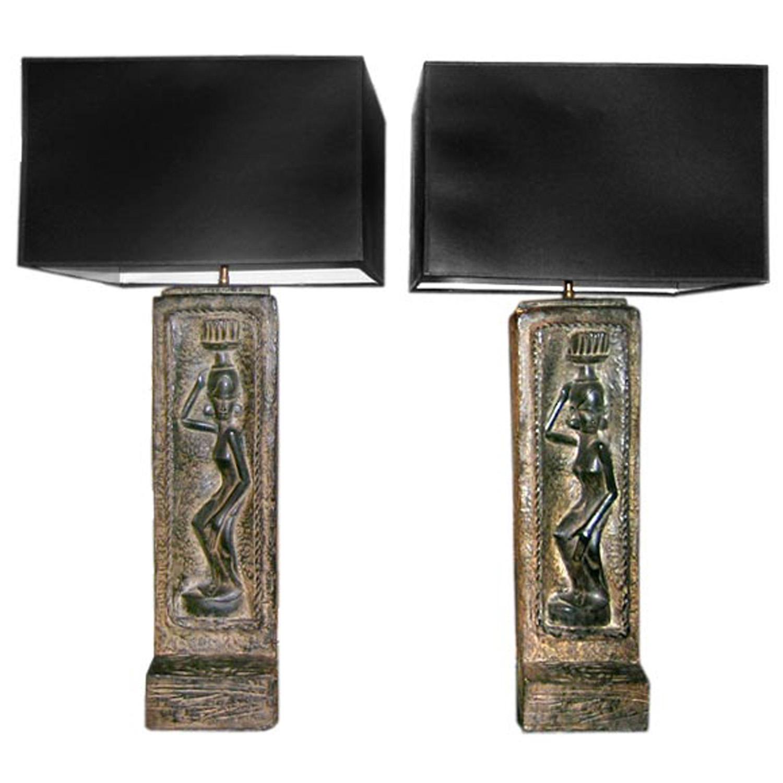 American 50 figural African plaster tablelamps48 hires main.jpg