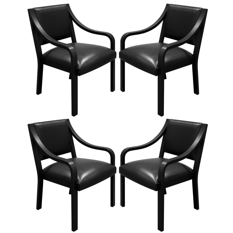 Springer 200 Regency Arm blk lthr diningchairs176 hires main set sqr.jpg