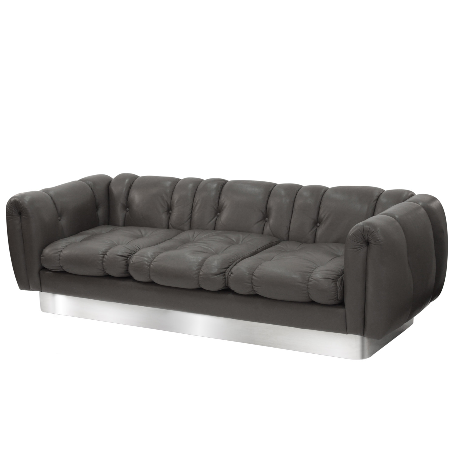 Pace 95 putty leather steel base sofa84 hires.jpg