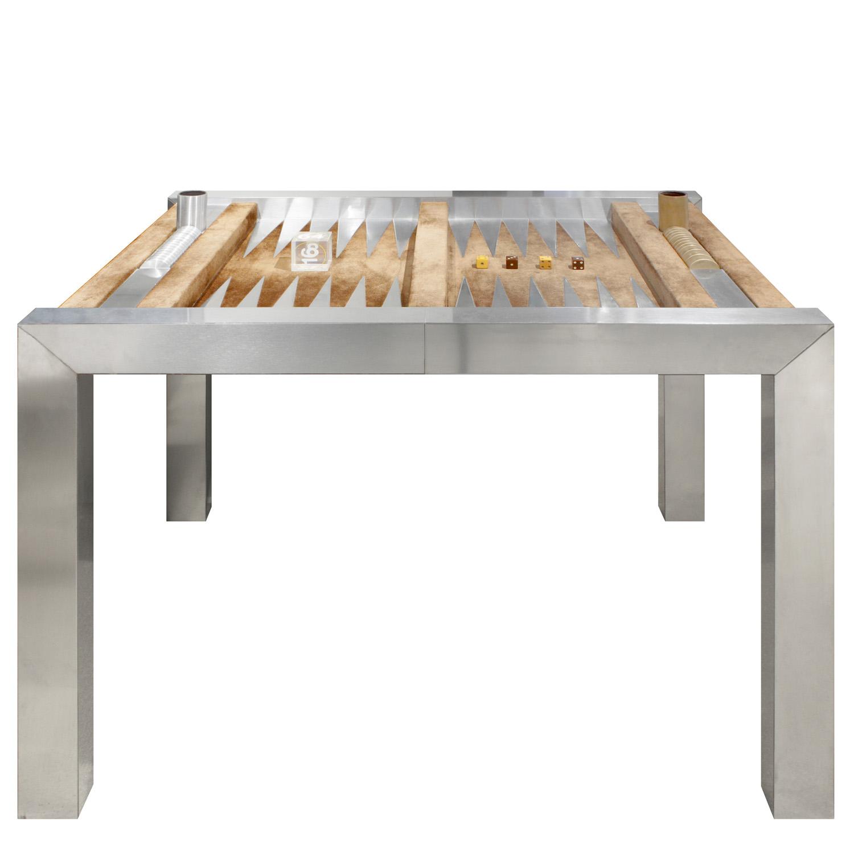 Evans 150 steel+suede backgammon gametable51 main w pieces.jpg