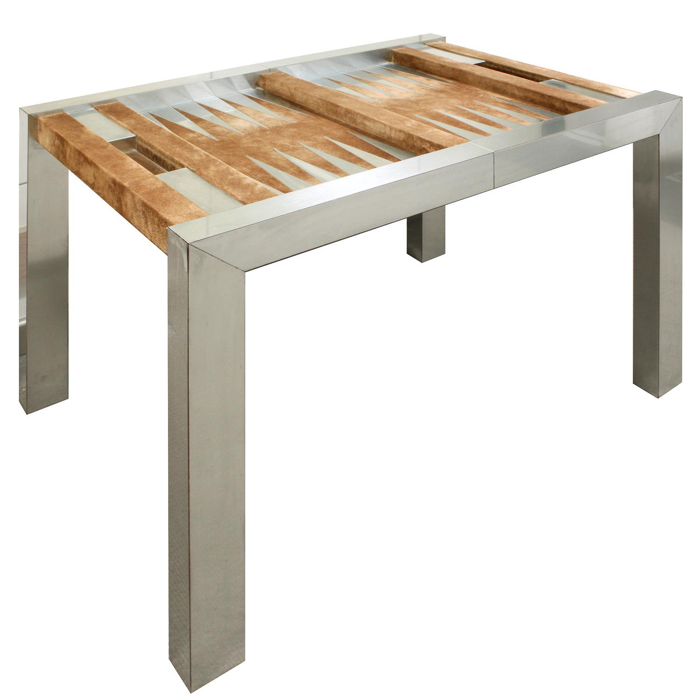 Evans 150 steel+suede backgammon gametable51 angle.jpg