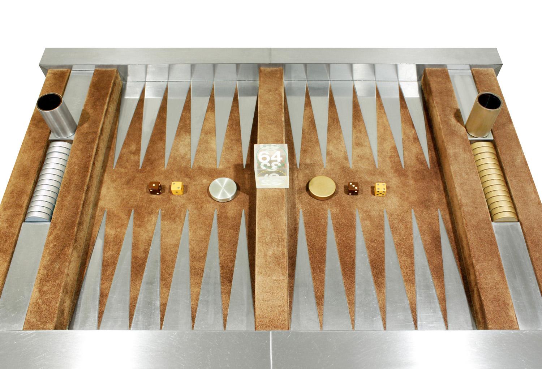 Evans 150 steel+suede backgammon gametable51 top w pieces.jpg