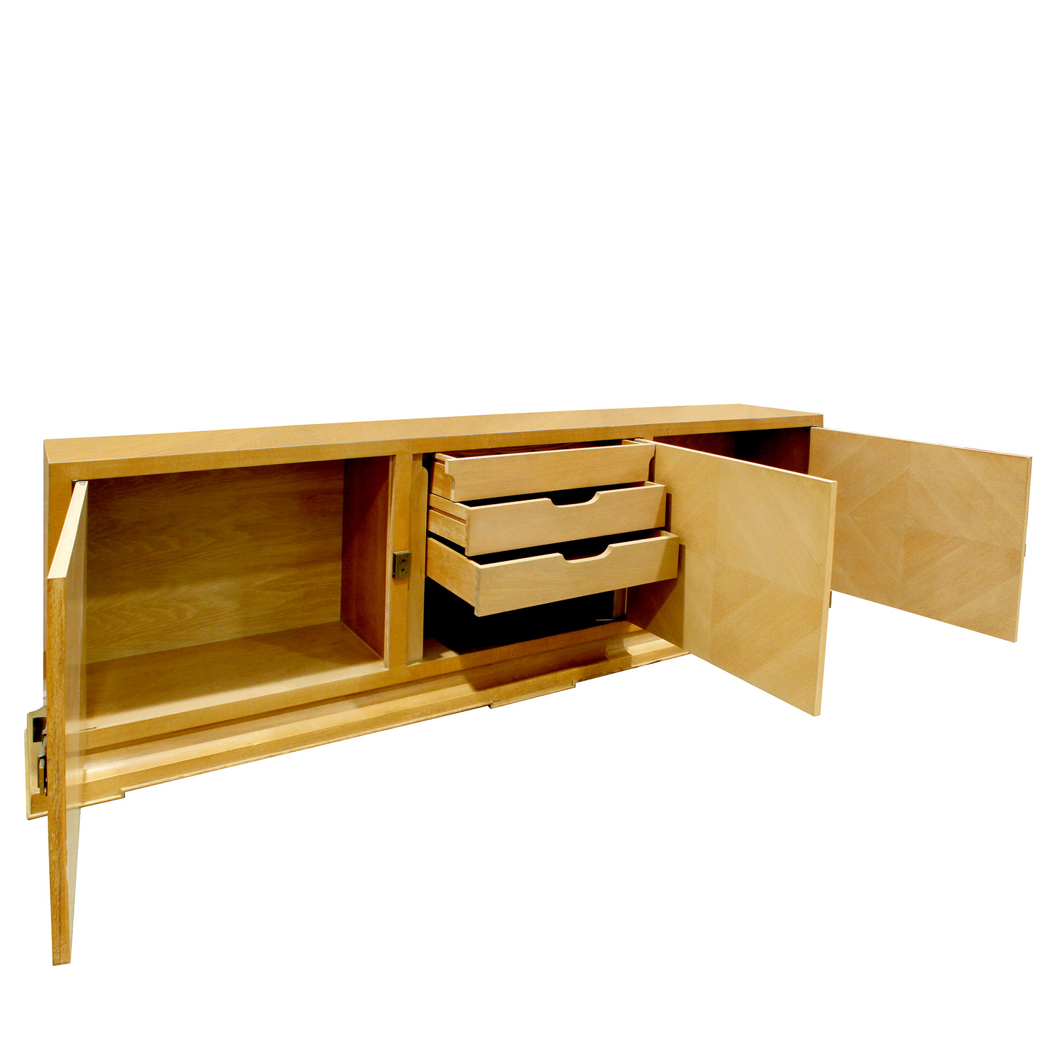 Parzinger 250 lrg 3dr brass bolts credenza60 angle drs open.jpg