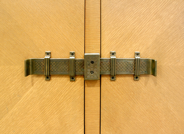 Parzinger 250 lrg 3dr brass bolts credenza60 buckle detail.jpg