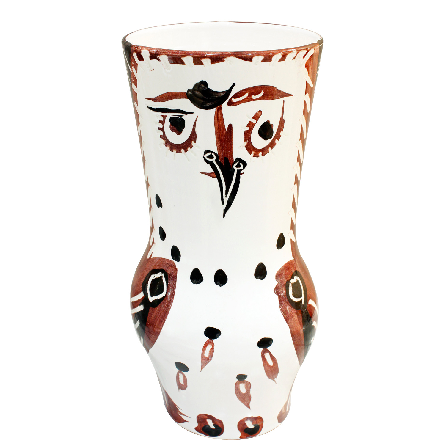 Picasso 200 lrg wood owl ceramic42 face.jpg