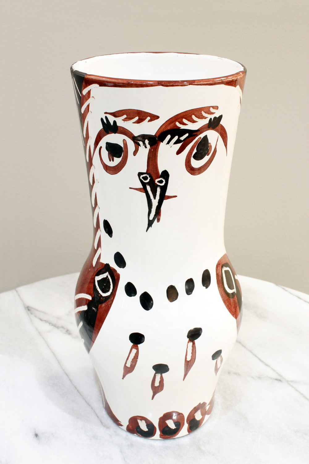 Picasso 200 lrg wood owl ceramic42 face2.jpg